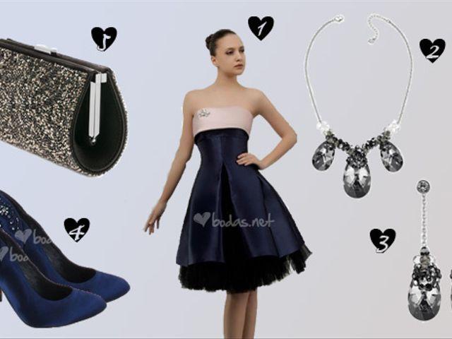 Look de invitada Blue & Black