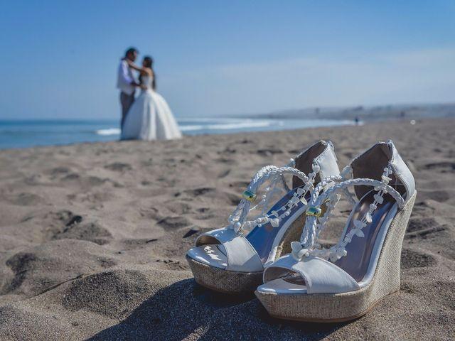Zapatos de novia para un matrimonio en la playa