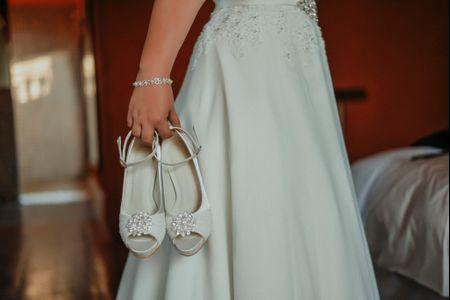 ¿Qué tipo de taco usarás para los zapatos de novia?