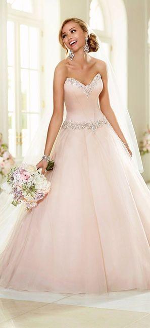 Vestidos de novia sencillos color pastel