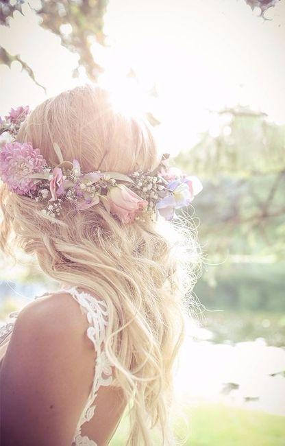 1. Corona de flores