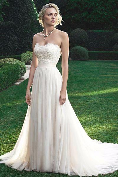 Matrimonio al aire libre: vestido de novia