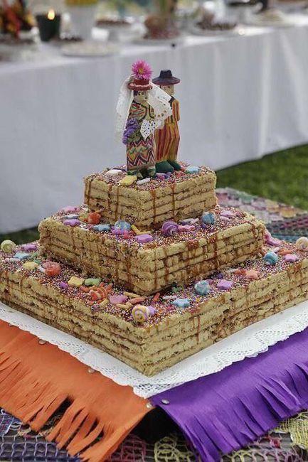 ¿turrón de doña pepa como torta de boda? 1
