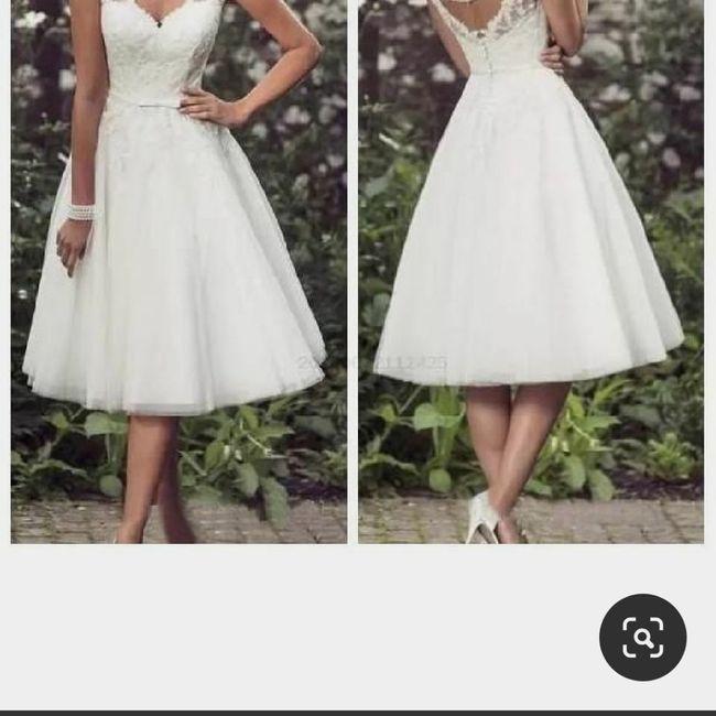 Vestido de novia para el civil 1