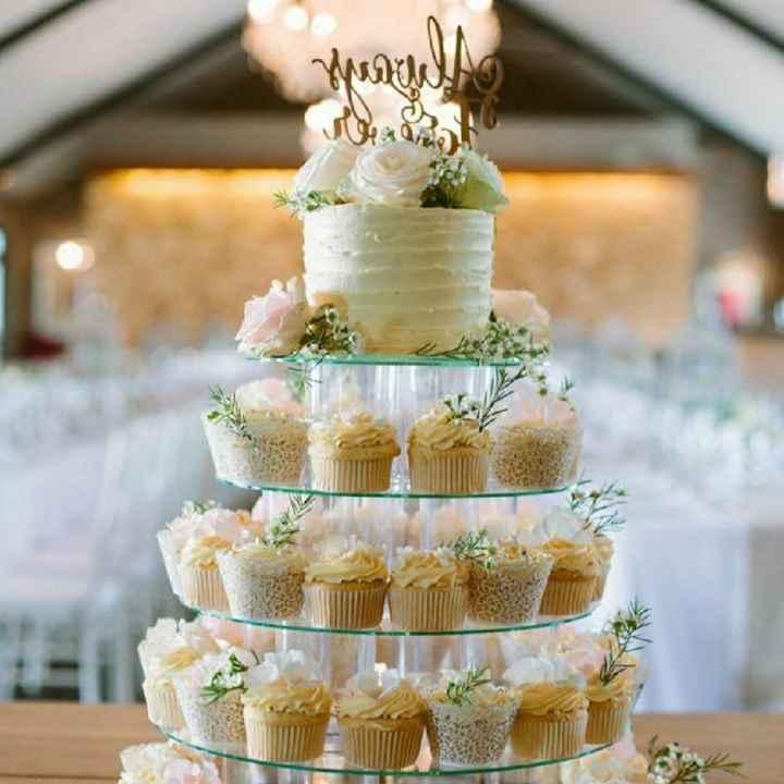 Torta de matrimonio Vs Cup Cakes 🎂 - 1
