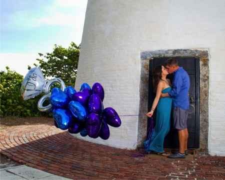 Sesion de fotos con globos