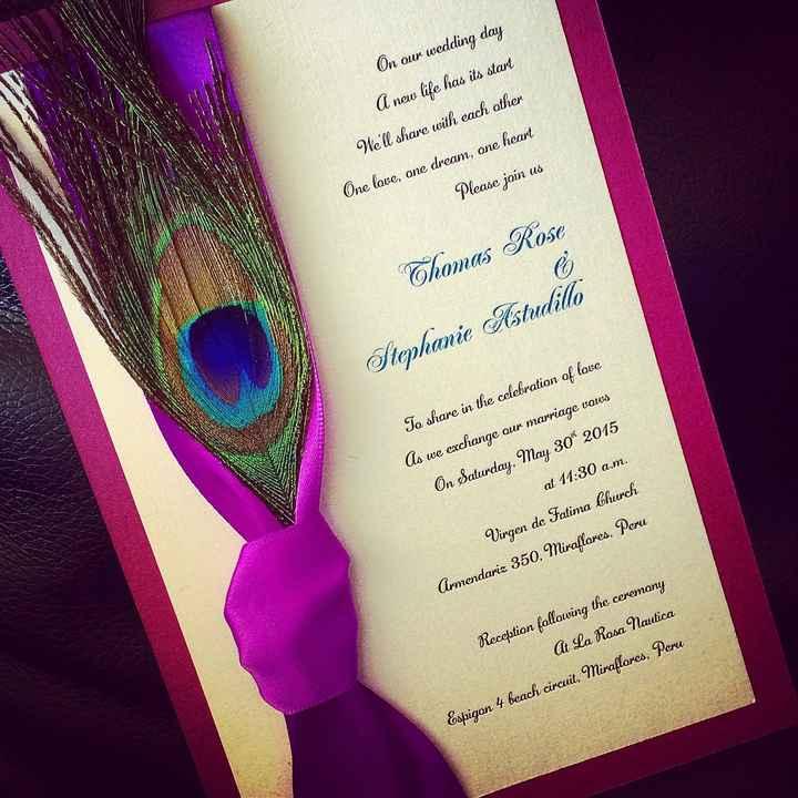 Tarjeta de invitacion