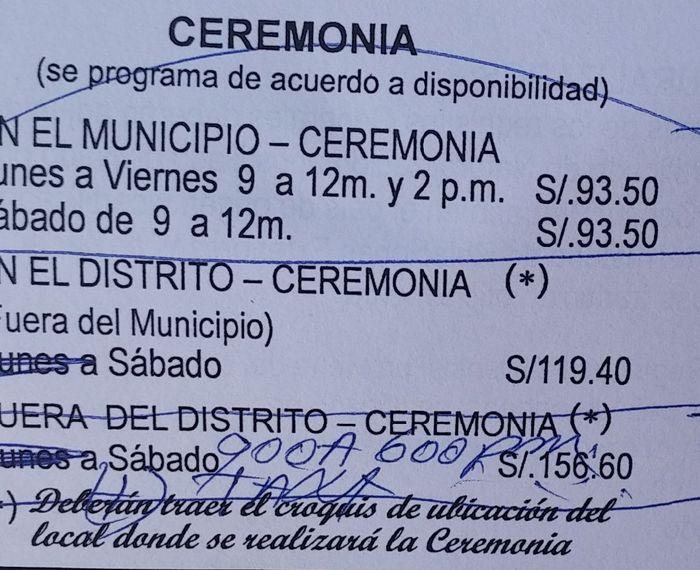 Precios municipalidad de san martin de porres 2