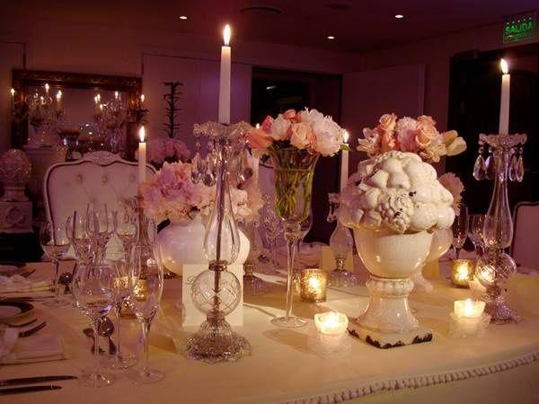 Ideas para decorar la mesa de la torta de bodas - Decoracion centro de mesa ...