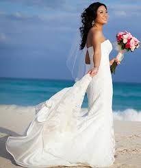 Vestido novia en la playa