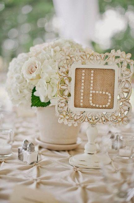 Tema Matrimonio De Amor : Números de mesa para imprimir