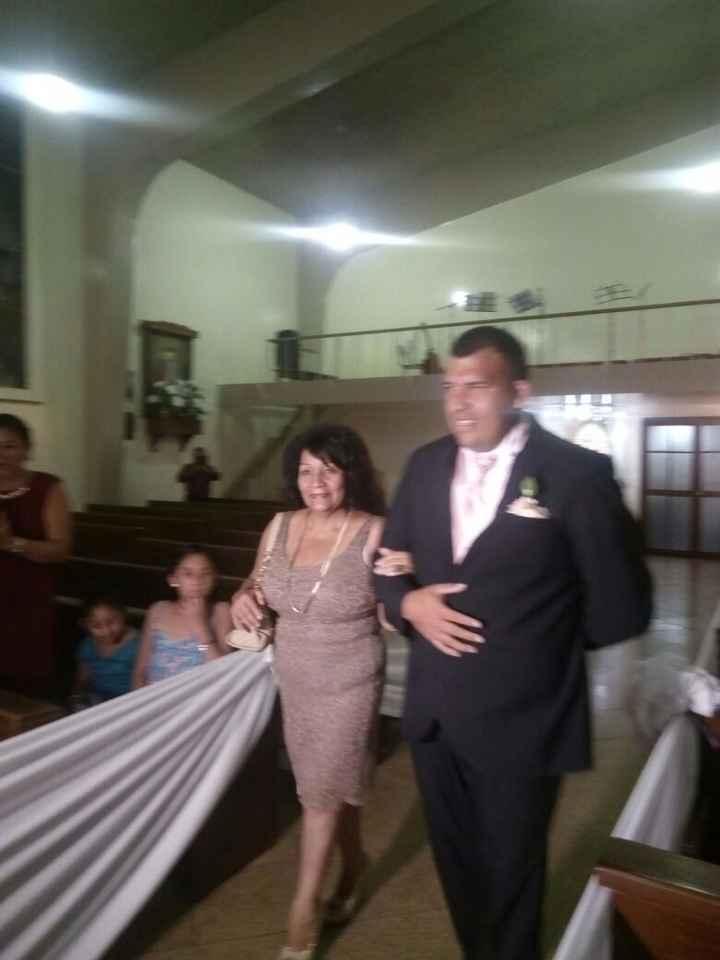 El ingreso del novio y mi suegra