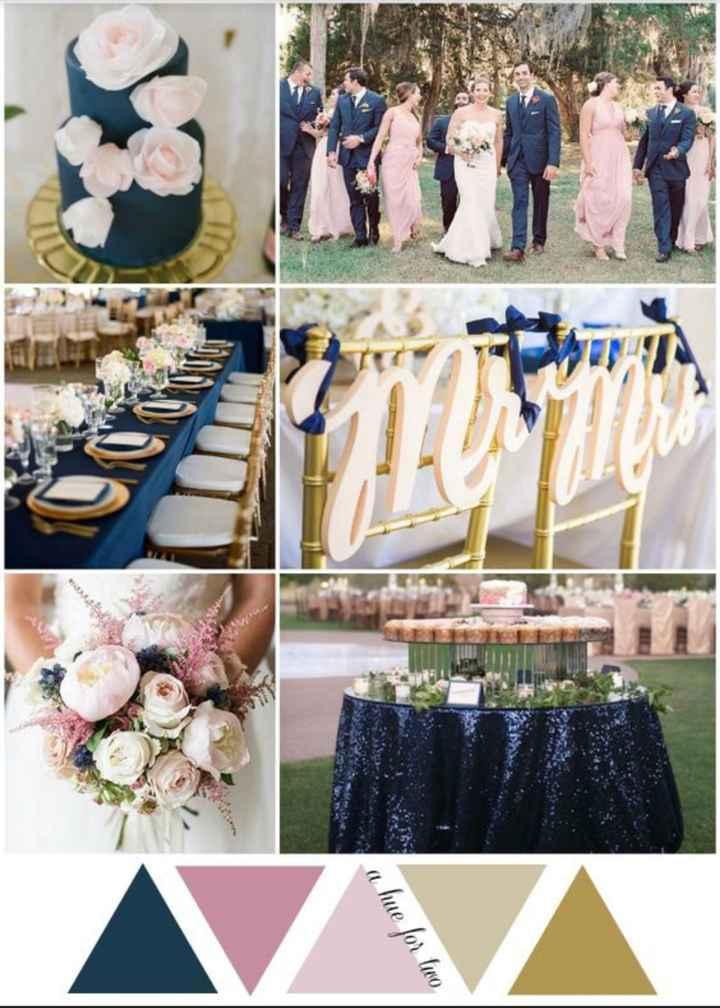 Colores de mi matrimonio, nuestra inspiración en Rosa y azul 😍 - 1