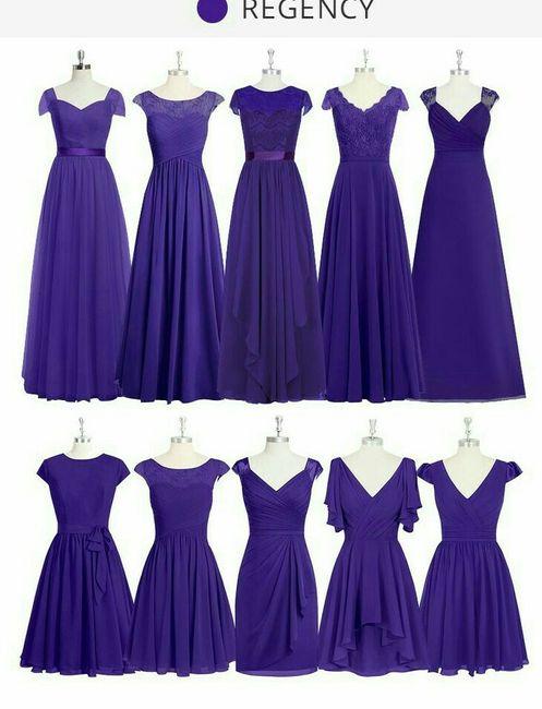 Vestidos de damas: estilos y colores