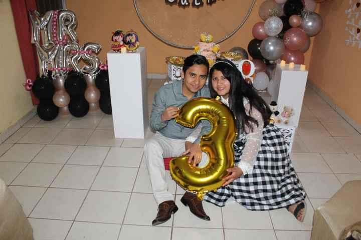 hoy celebro 3 Años de Casada. bodas de cuero - 18
