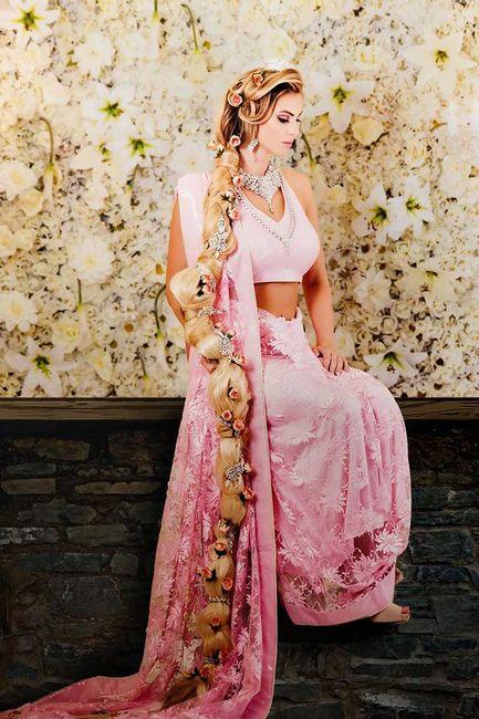 Vestidos de novia coloridos: princesas disney