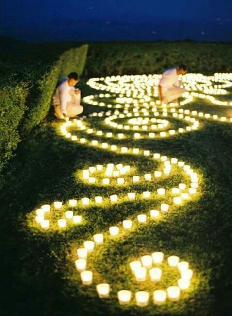 decoracion boda de noche al aire libre