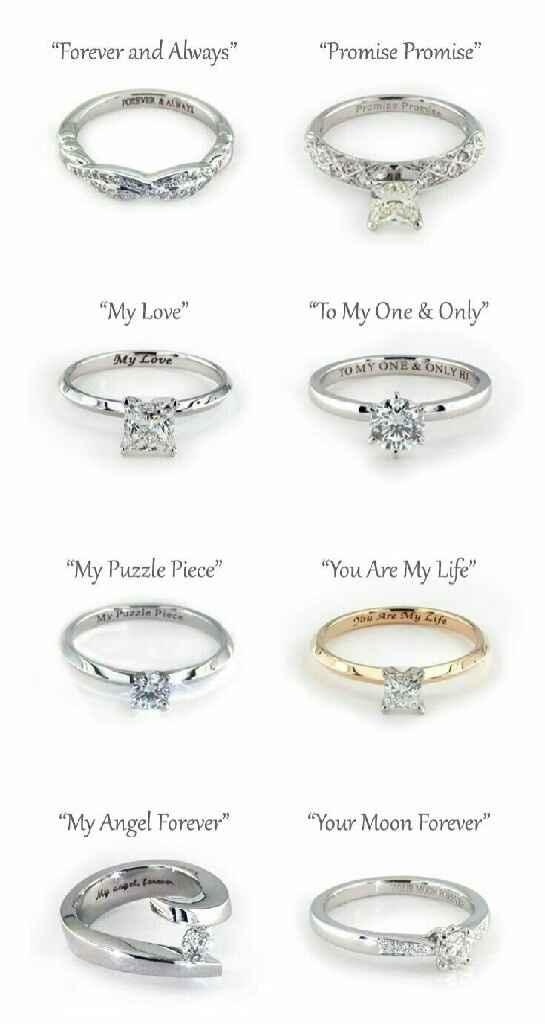 Grabado para anillo compromiso. - 1
