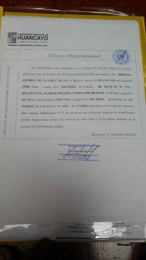 Documento municipal