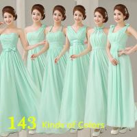 vestidos damas de honor en verde menta