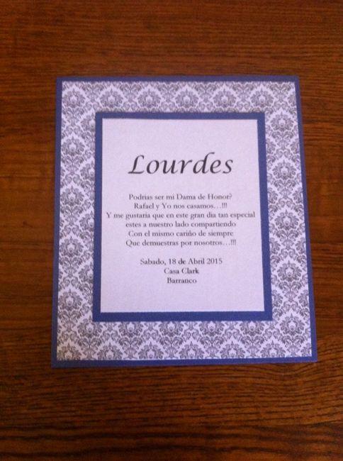 Invitaciones para las damas de honor - 5