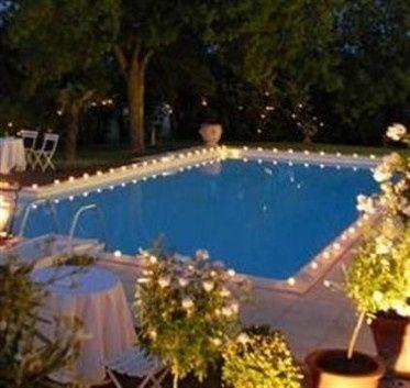 Rustivintage boda piscina velas led o velas de cera for Velas flotantes piscina