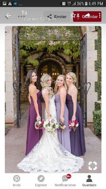 ¡Vestidos de damas de colores pasteles! ¿Cuál eliges? 🌈🌸 6