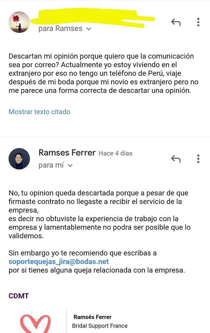 Mi experiencia y opinión personal de Mariú Mercedes Rodriguez wp de Elite Weddding: - 2