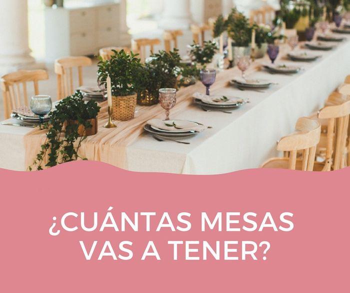 ¿Cuántas mesas van a tener? 1