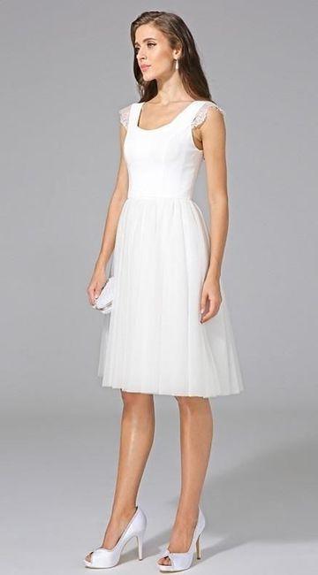 Vestidos de novia hasta la rodilla, ¿así o más largo? 1