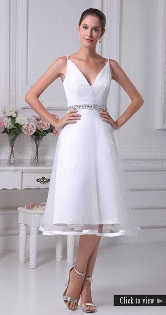 Vestidos de novia hasta la rodilla, ¿así o más largo? 2