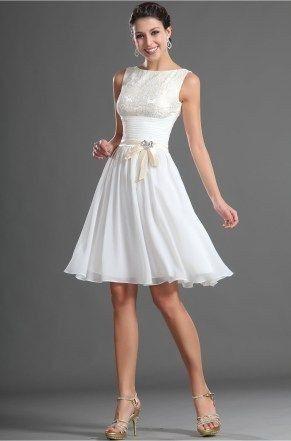 Vestidos de novia hasta la rodilla, ¿así o más largo? 4