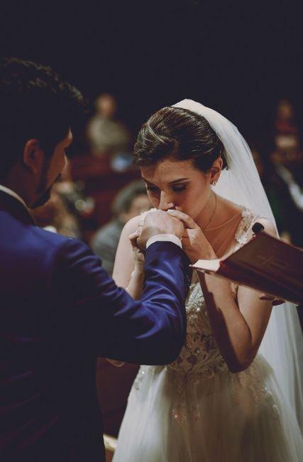 El primer beso de esposos ¿practicaron? 3