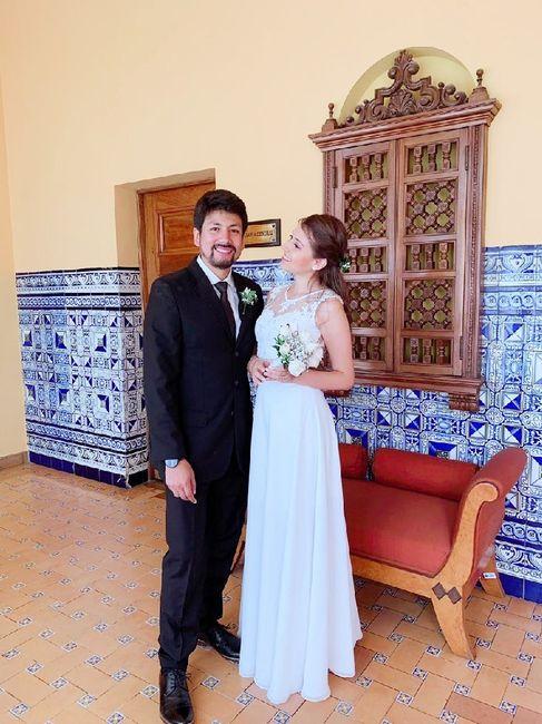 Vestido de novia en dos piezas 9