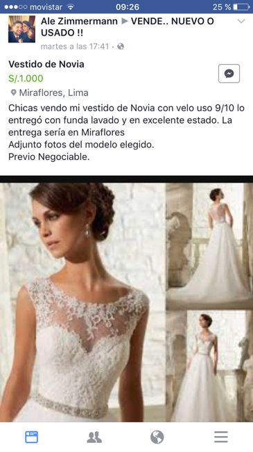 Quiero vender mi vestido de novia lima