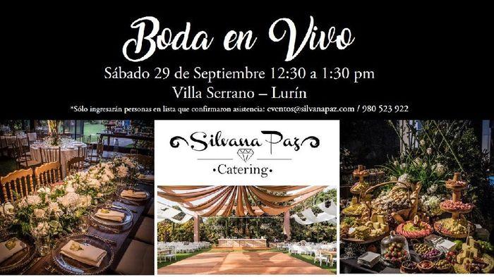 Boda en Vivo Silvana Paz-aklla Catering - 1