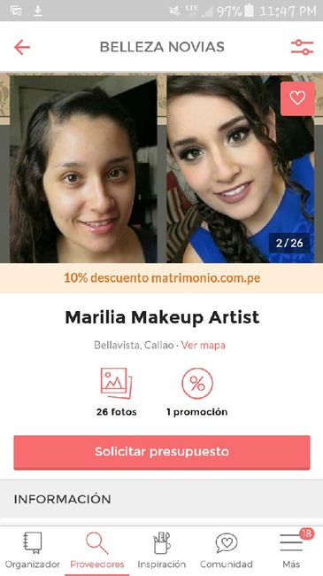 Recomendación de maquilladora y peinadora / video y foto - 1