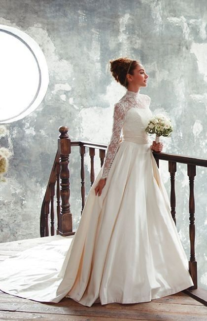 10 vestidos con manga larga para novias otoño -invierno 7 c47c4e3cdfb2