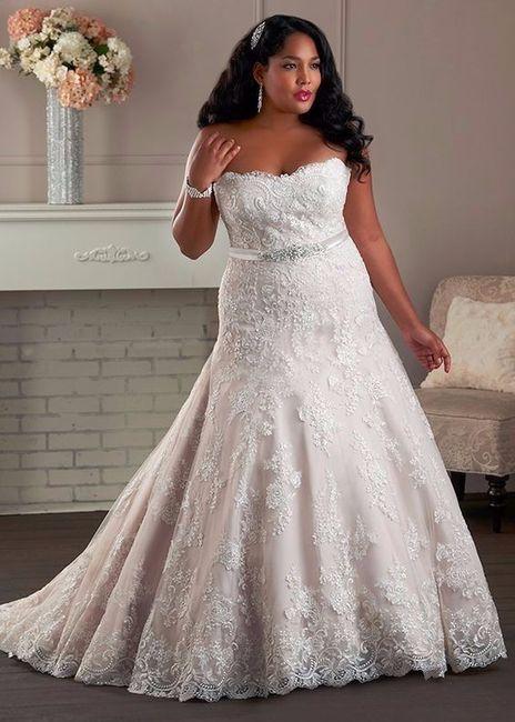 vestidos para novia talla xxl
