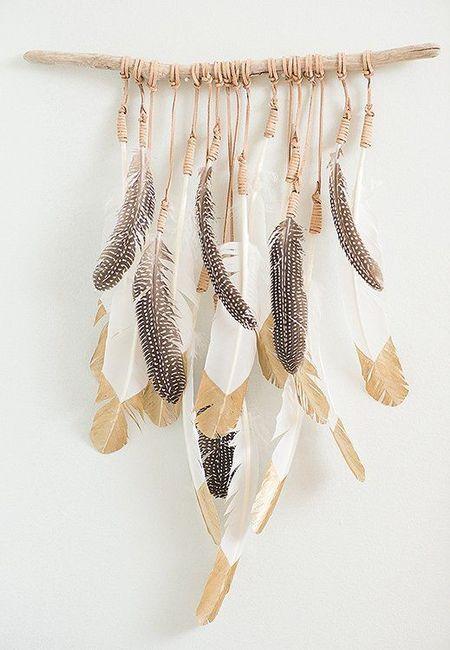 Decoración de matrimonio con plumas 1