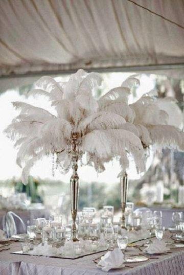 Decoración de matrimonio con plumas 3