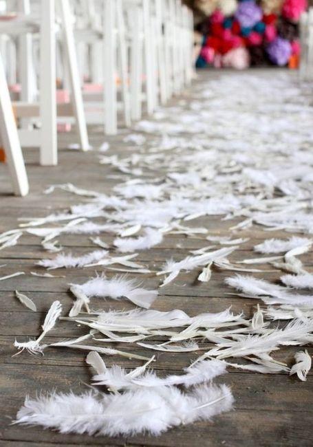 Decoración de matrimonio con plumas 4
