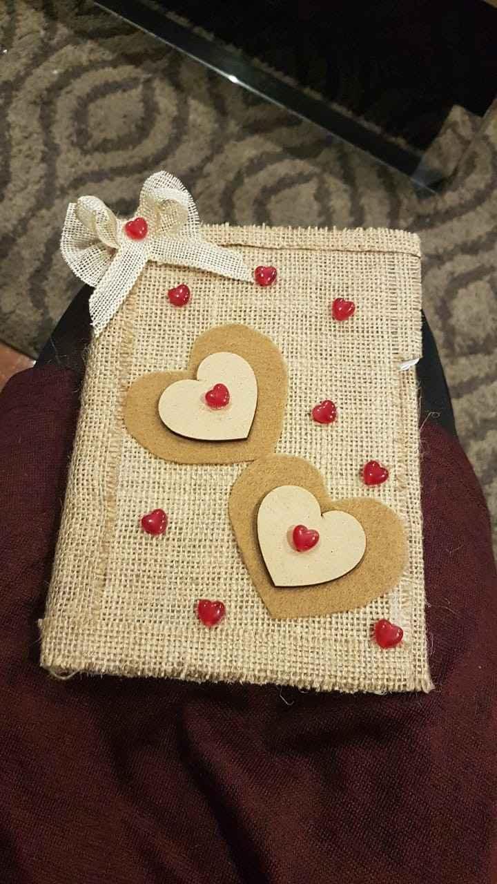 Cuaderno con presentes