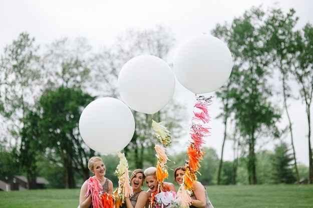Decora unos globos con helio para tu foto