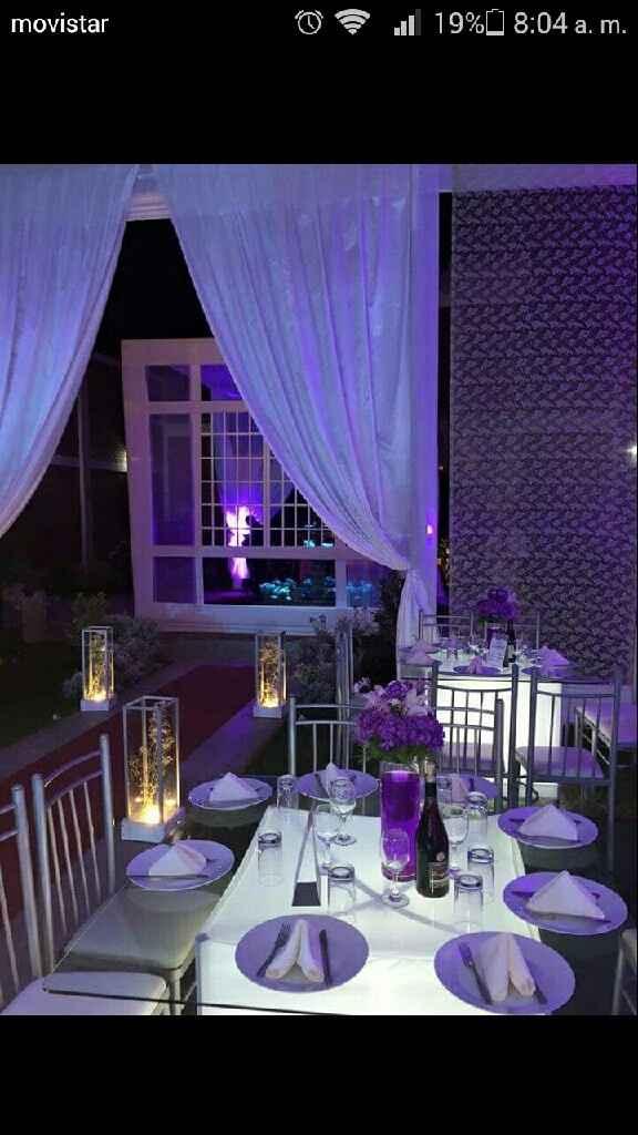 Mesas con mantel o mesas iluminadas - 2