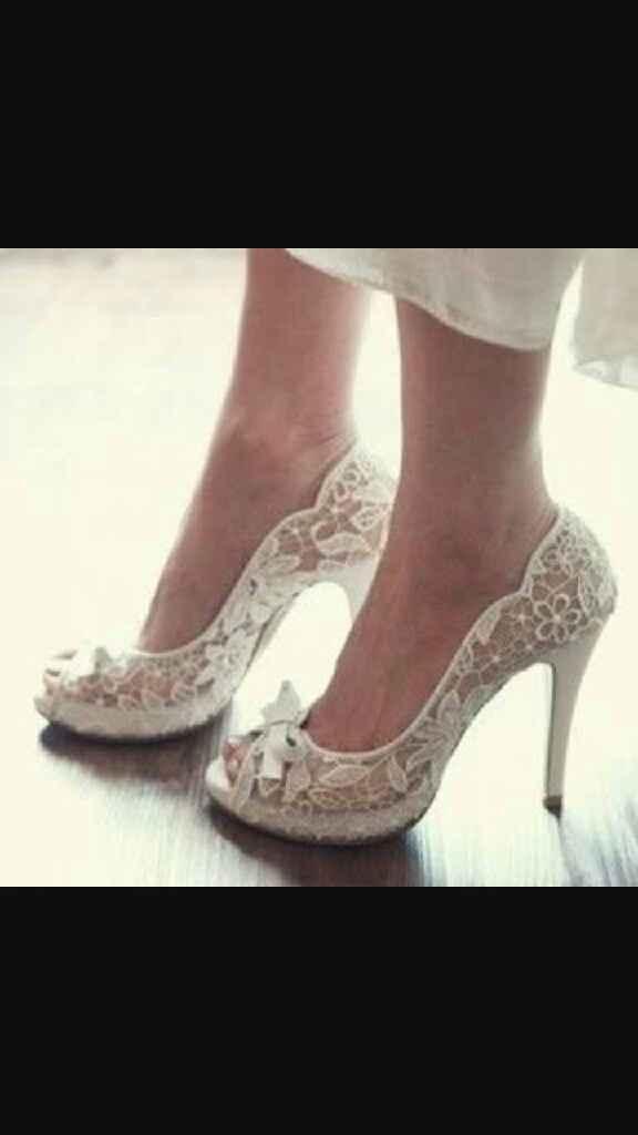 Zapatos de novia cómodos con encaje - 1