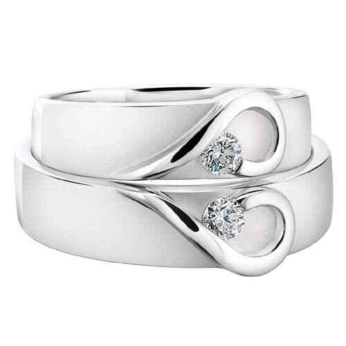 Especial aros de matrimonio: Aros en oro blanco - 1