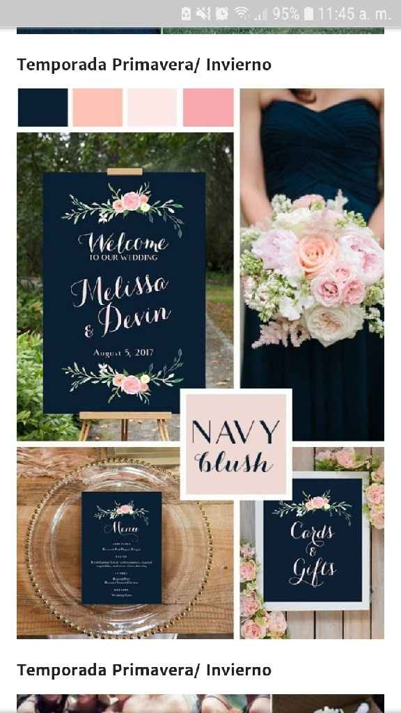 Completa la FRASE: Los colores de mi boda serán  __________ - 1