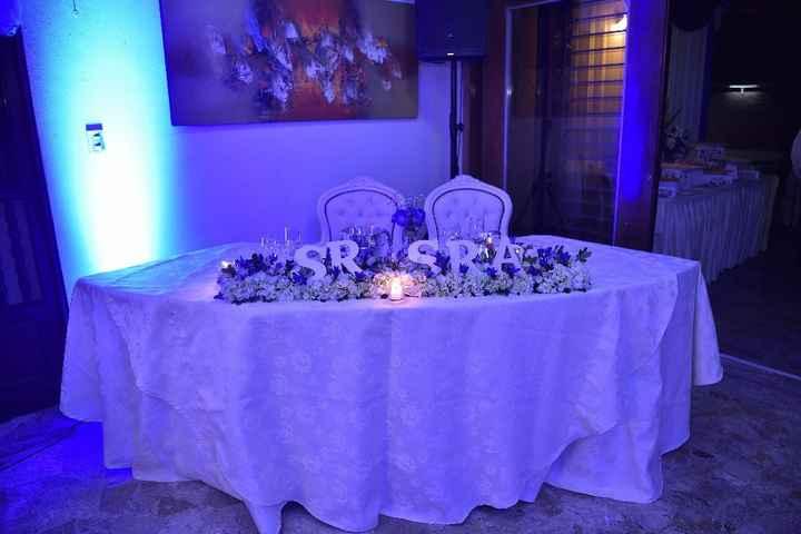 La mesa de los novios