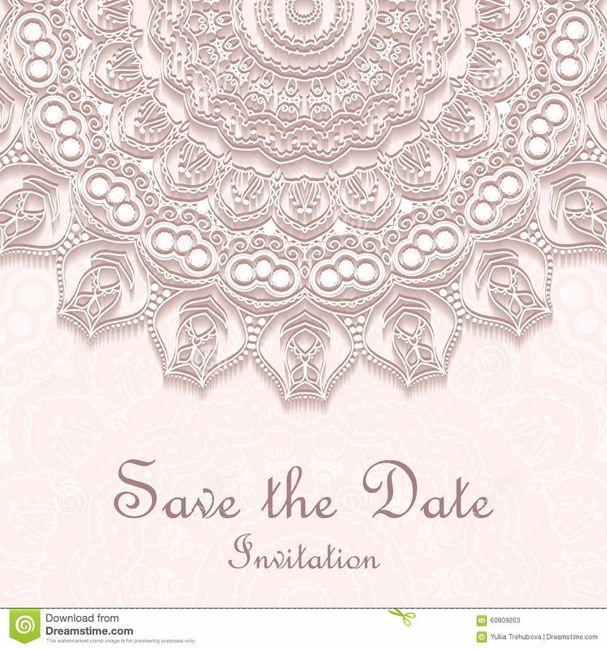 Tarjeta de invitación boda